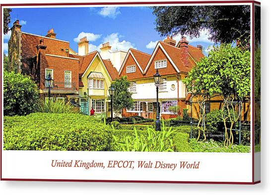 United Kingdom Buildings, Epcot, Walt Disney World Canvas Print