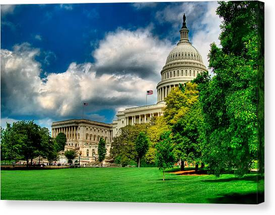 United States Capital House Side Canvas Print