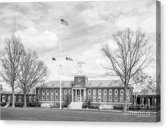 Coast Guard Canvas Print - United States Coast Guard Academy Hamilton Hall by University Icons