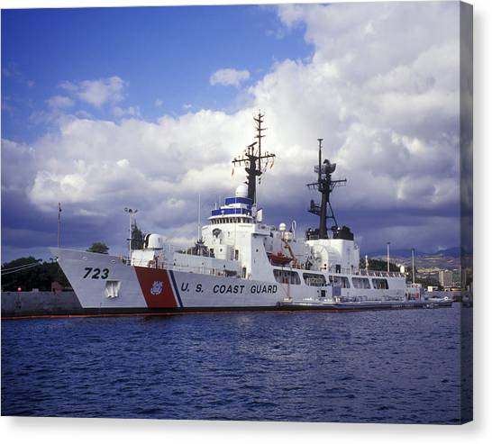 Coast Guard Canvas Print - United States Coast Guard Cutter Rush by Michael Wood