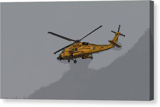 United States Coast Guard Helicopter Canvas Print