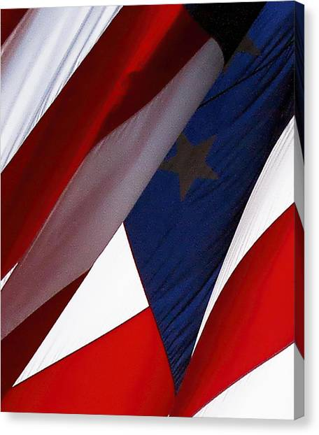 United States Flag Abstract Canvas Print