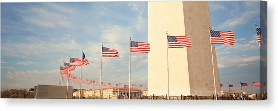 Washington Nationals Canvas Print - United States Flags At The Base by Panoramic Images