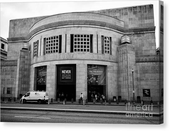 Holocaust Museum Canvas Print - united states holocaust memorial museum Washington DC USA by Joe Fox