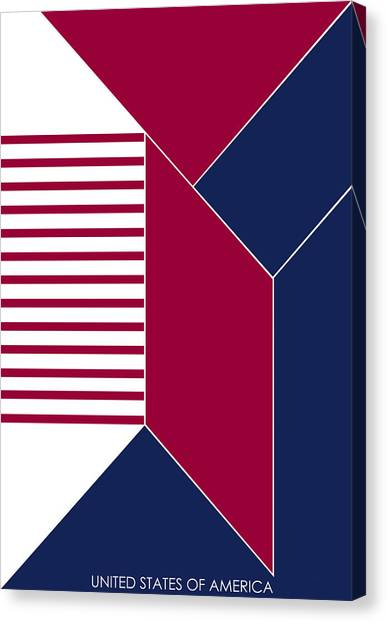 United States Of America IIi - Text Canvas Print by Asbjorn Lonvig