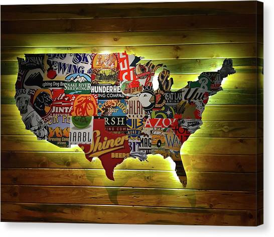 United States Map Canvas Wall Art.United States Map Canvas Prints Fine Art America