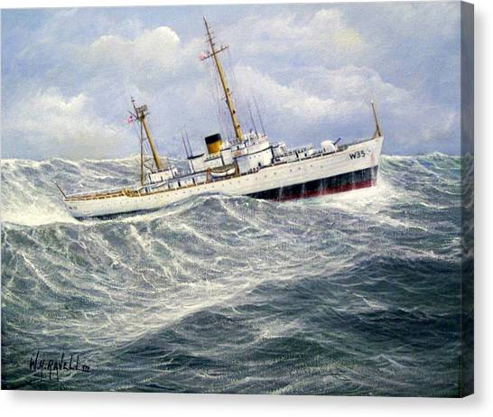 United Statescoast Guard Cutter Ingham Canvas Print by William H RaVell III