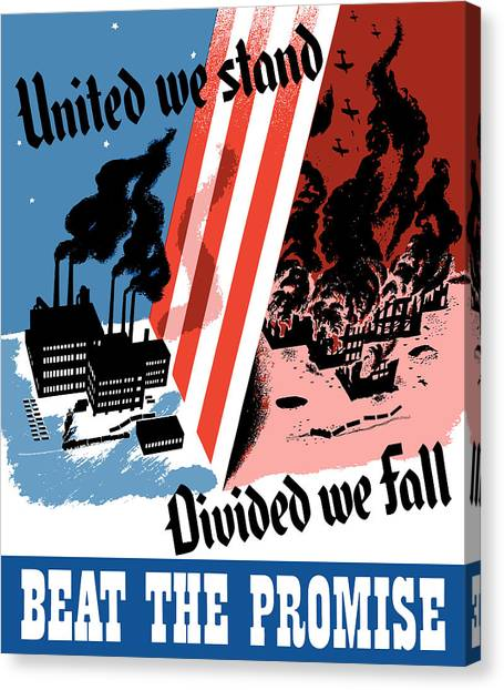 Factories Canvas Print - United We Stand Divided We Fall by War Is Hell Store