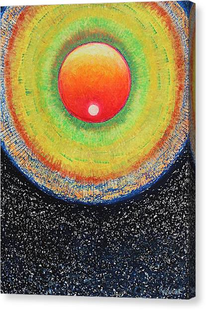 Universal Eye In Red Canvas Print