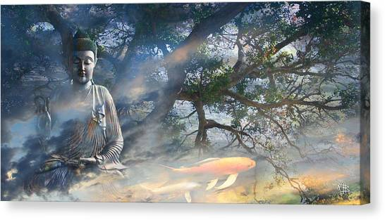 Buddhist Canvas Print - Universal Flow by Christopher Beikmann