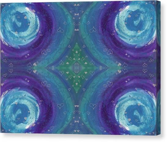 Universal Love Green Diamond Quad Canvas Print