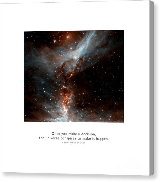 Canvas Print featuring the photograph Universe Conspires When You Decide by Kristen Fox