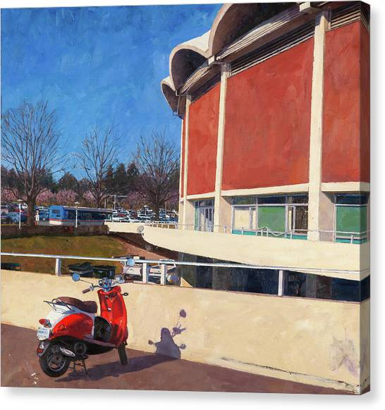 University Of Virginia Canvas Print - University Hall, 2018 by Edward Thomas