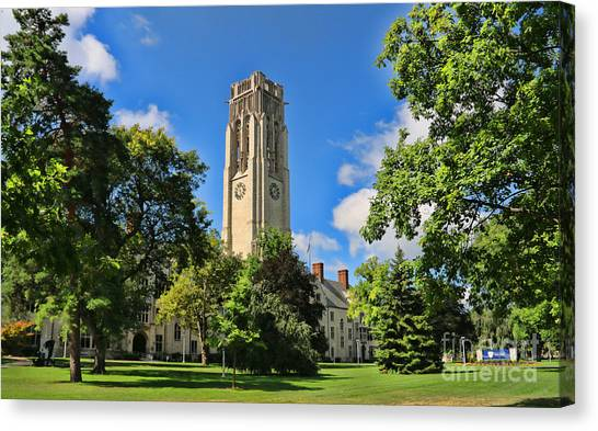 University Of Toledo Canvas Print - University Hall University Of Toledo  6196 by Jack Schultz