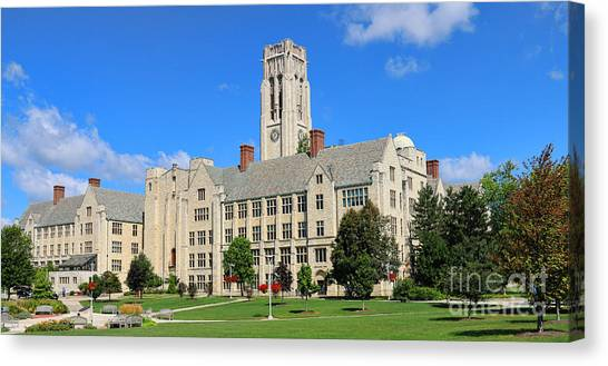 University Of Toledo Canvas Print - University Hall University Of Toledo  6215 by Jack Schultz