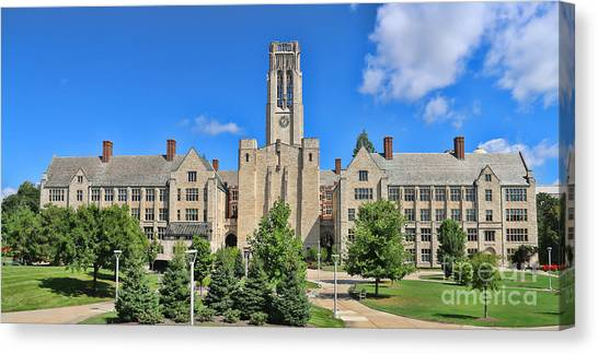 University Of Toledo Canvas Print - University Hall University Of Toledo  6224 by Jack Schultz