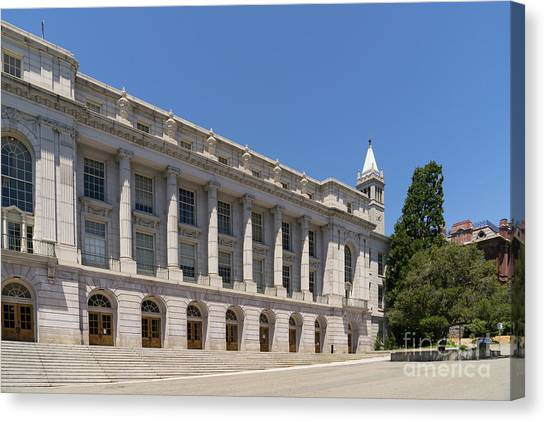 Uc Berkeley Canvas Print - University Of California Berkeley Historic Ide Wheeler Hall South Hall And The Campanile Dsc4064 by Wingsdomain Art and Photography