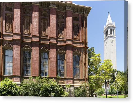 Uc Berkeley Canvas Print - University Of California Berkeley Historic South Hall And The Campanile Dsc4054 by Wingsdomain Art and Photography