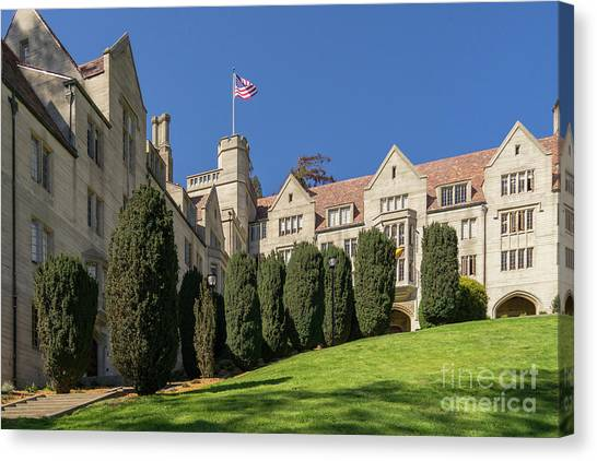 Uc Berkeley Canvas Print - University Of California Berkeley Historical Bowles Hall College Dormatory Dsc4733 by Wingsdomain Art and Photography