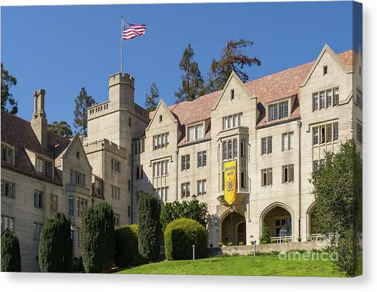 Uc Berkeley Canvas Print - University Of California Berkeley Historical Bowles Hall College Dormatory Dsc4759 by Wingsdomain Art and Photography