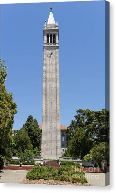 Uc Berkeley Canvas Print - University Of California Berkeley Sather Tower The Campanile Dsc4043 by Wingsdomain Art and Photography