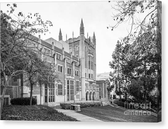 Ucla Canvas Print - University Of California Los Angeles Kerckhoff Hall by University Icons