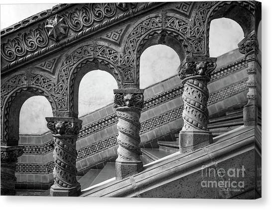 Pac 12 Canvas Print - University Of California Los Angeles Powell Library Stairway by University Icons