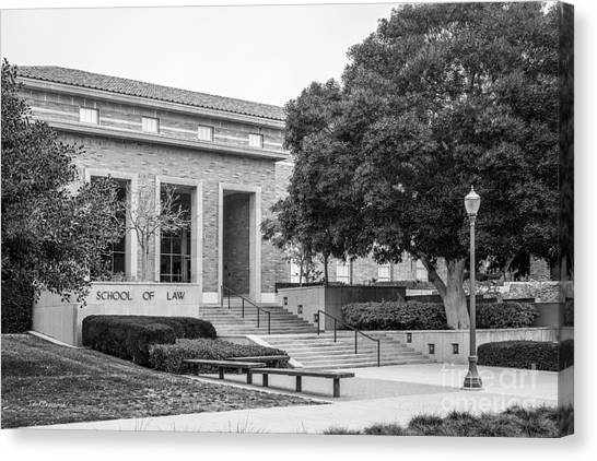 Ucla Canvas Print - University Of California Los Angeles School Of Law by University Icons