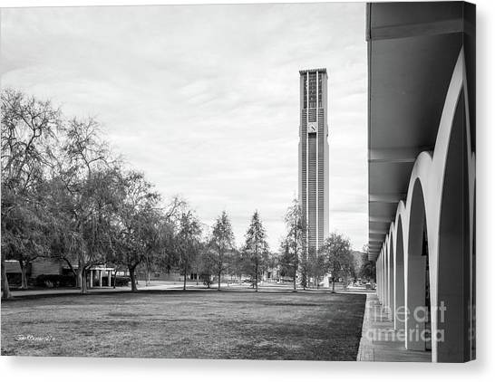 Uc Riverside Canvas Print - University Of California Riverside Bell Tower by University Icons