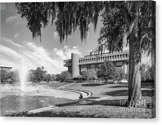 University Of Central Florida Ucf Canvas Print - University Of Central Florida John Hitt Library by University Icons