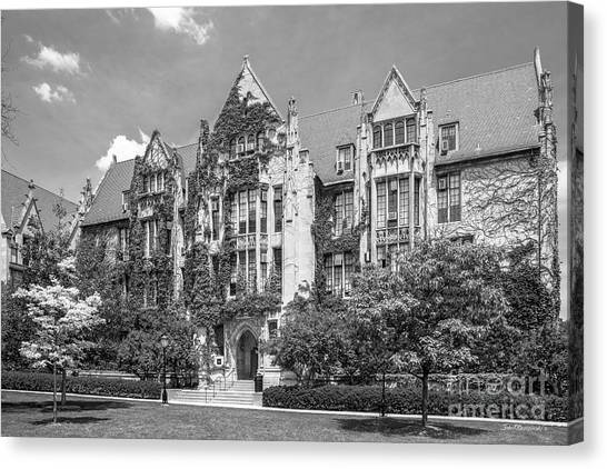 Hyde Park Canvas Print - University Of Chicago Eckhart Hall by University Icons