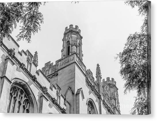 Hyde Park Canvas Print - University Of Chicago Harper Library  by University Icons