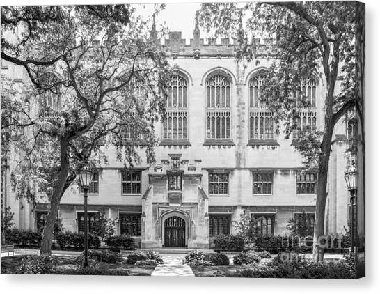Hyde Park Canvas Print - University Of Chicago Harper Memorial Library by University Icons