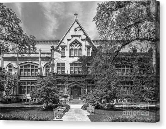 Hyde Park Canvas Print - University Of Chicago Haskell Hall by University Icons
