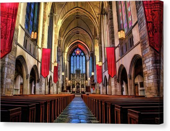 Uaa Canvas Print - University Of Chicago Rockefeller Chapel by Christopher Arndt