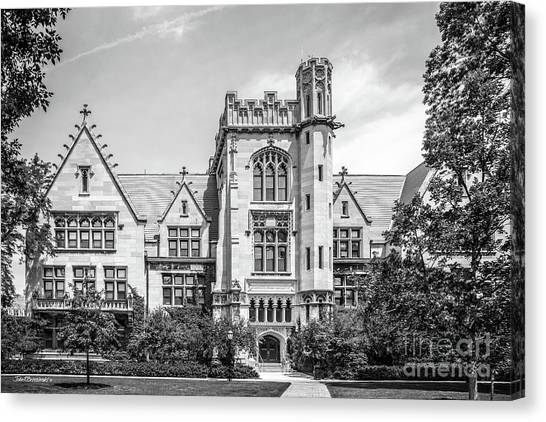 Hyde Park Canvas Print - University Of Chicago Ryerson Hall by University Icons