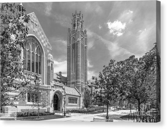 Hyde Park Canvas Print - University Of Chicago Saieh Hall For Economics by University Icons
