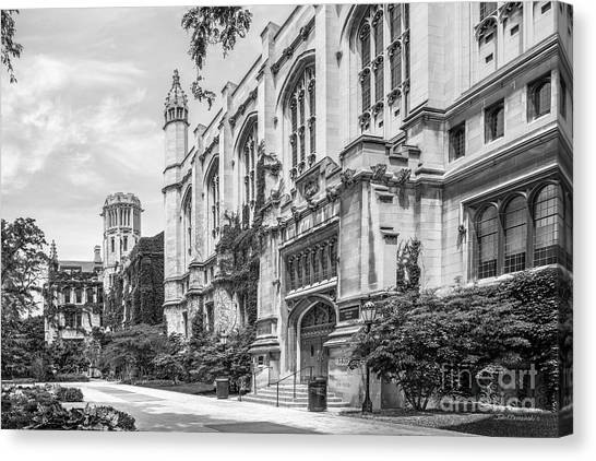 Hyde Park Canvas Print - University Of Chicago Stuart Hall by University Icons