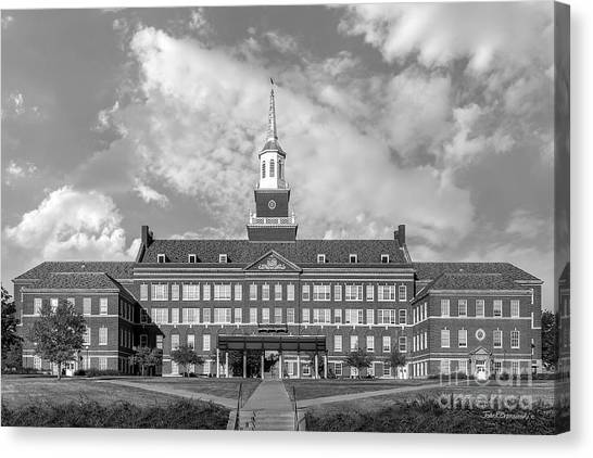 Ohio University Canvas Print - University Of Cincinnati Mc Micken Hall by University Icons