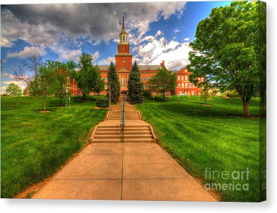 Chi Omega Canvas Print - University Of Cincinnati by Paul Lindner