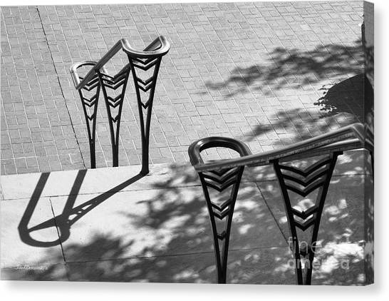 University Of Cincinnati Canvas Print - University Of Cincinnati Railings by University Icons
