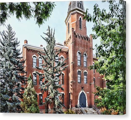 University Of Colorado Canvas Print - University Of Colorado Old Main In Summer - Photography by Ann Powell