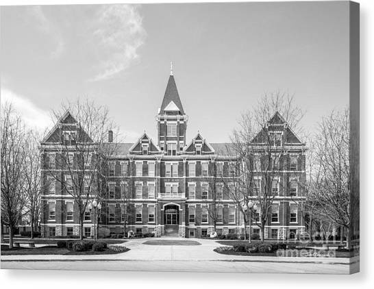 Ohio University Canvas Print - University Of Findlay Old Main by University Icons
