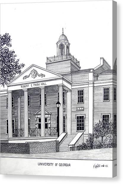 University Of Georgia Canvas Print - University Of Georgia by Frederic Kohli