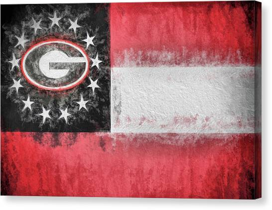 Georgia State University Canvas Print - University Of Georgia State Flag by JC Findley