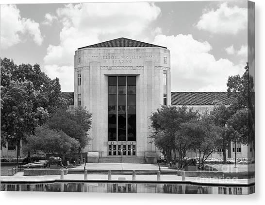 University Of Houston Canvas Print - University Of Houston Cullen Building by University Icons