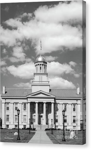 University Of Iowa Canvas Print - University Of Iowa Old Capital Vertical by University Icons