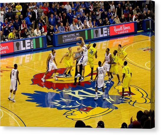 University Of Kansas Canvas Print - University Of Kansas Cole Aldrich by Keith Stokes