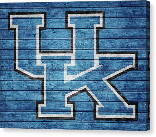 University Of Kentucky Canvas Print - University Of Kentucky Barn Door by Dan Sproul