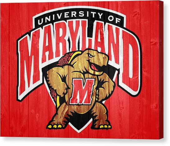 University Of Maryland Barn Door Canvas Print